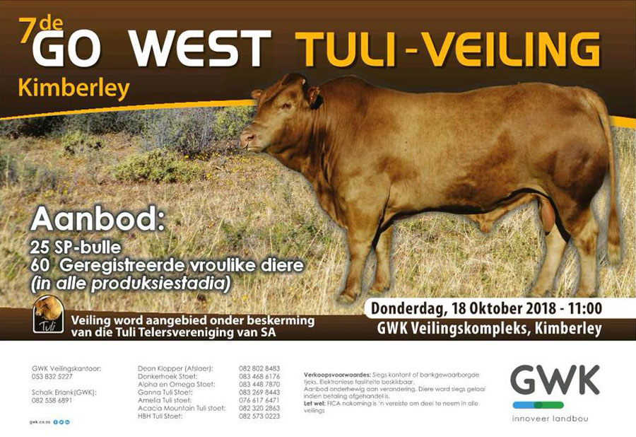 Go West Tuli Auction